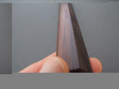 画像2: 伝統工芸士 火造り本鍛造  鳳皇琳 出刃庖丁 165mm 積層流 白紙二号 紫檀鎬柄